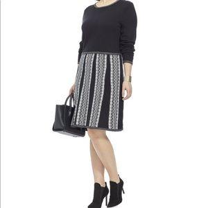 Very Cute Sweater  Dress in Black& Ivory